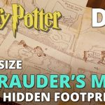Diy Marauder's Map With Hidden Footprints! Full Size Replica   Marauder's Map Replica Printable