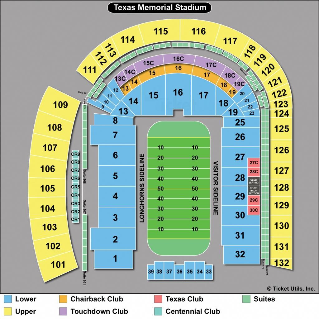Dkr Stadium Map   Area Code Map - Dkr Texas Memorial Stadium Map