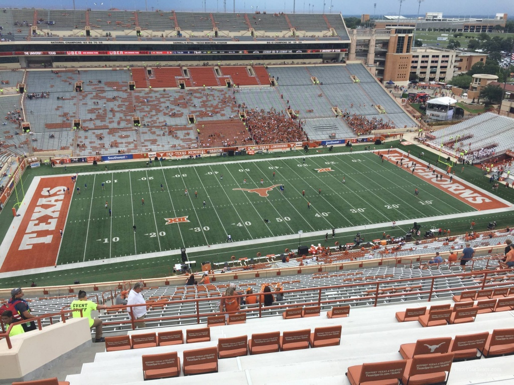 Dkr-Texas Memorial Stadium Section 106 - Rateyourseats - Texas Longhorn Stadium Seating Map