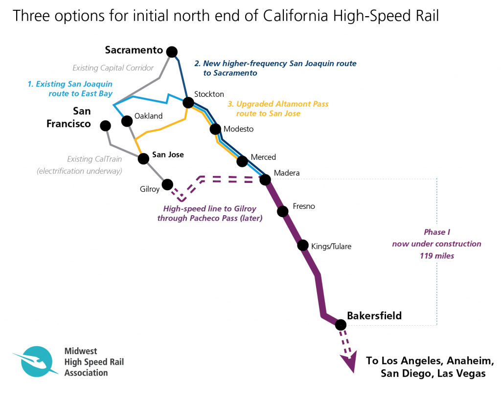 Does California Have More Options Than It Realizes For First High - California Rail Pass Map