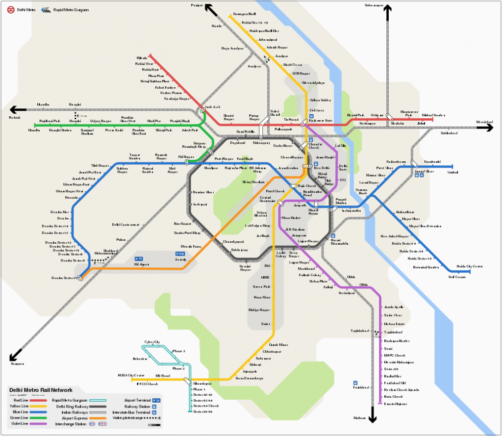 Download Delhi Metro Map In Pdf — Map, Lines, Route, Hours, Tickets - Printable Metro Map