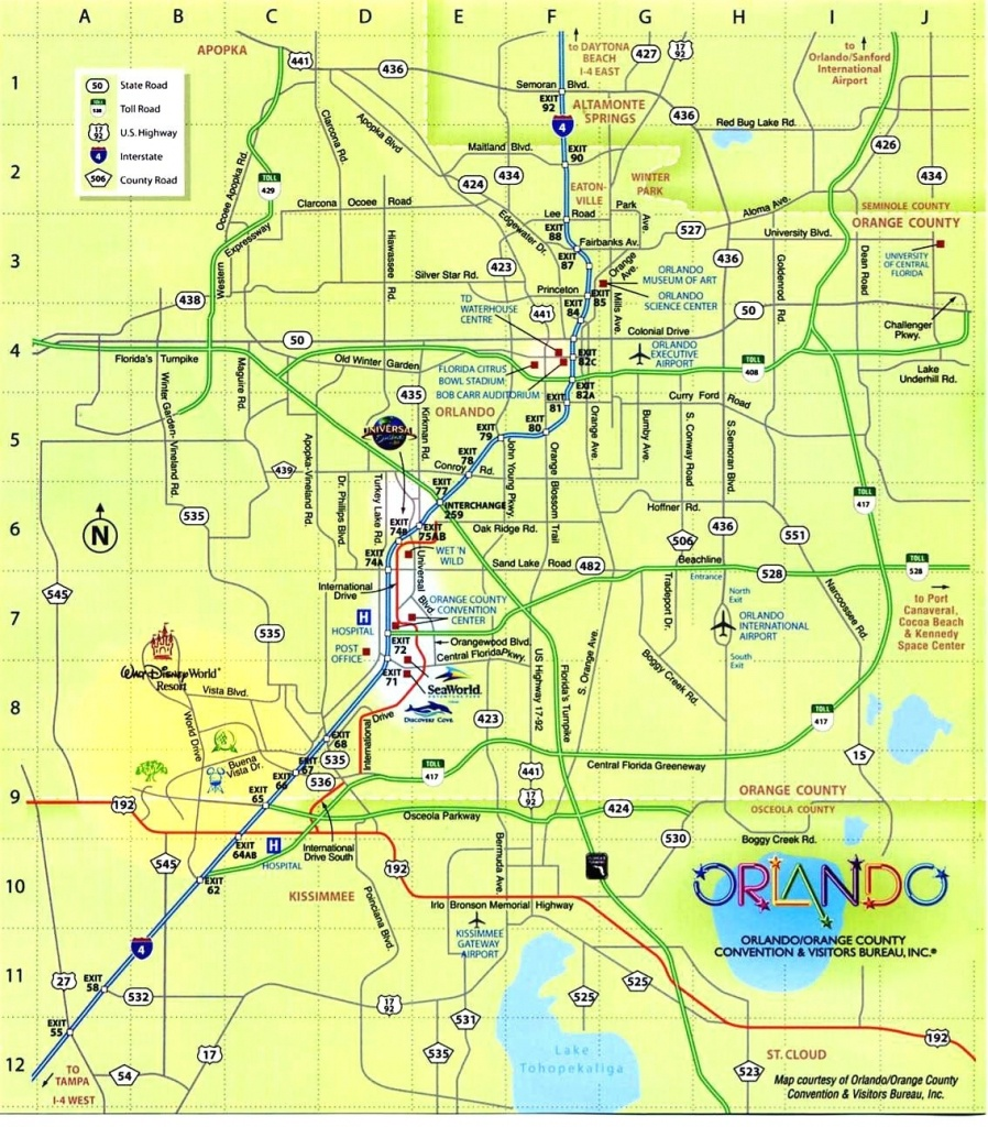 Download Map Usa Orlando Major Tourist Attractions Maps At And 6 16 - Central Florida Attractions Map