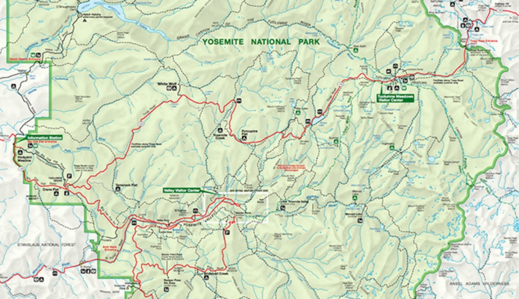Download The Official Yosemite Park Map Pdf - My Yosemite Park - Yosemite California Map