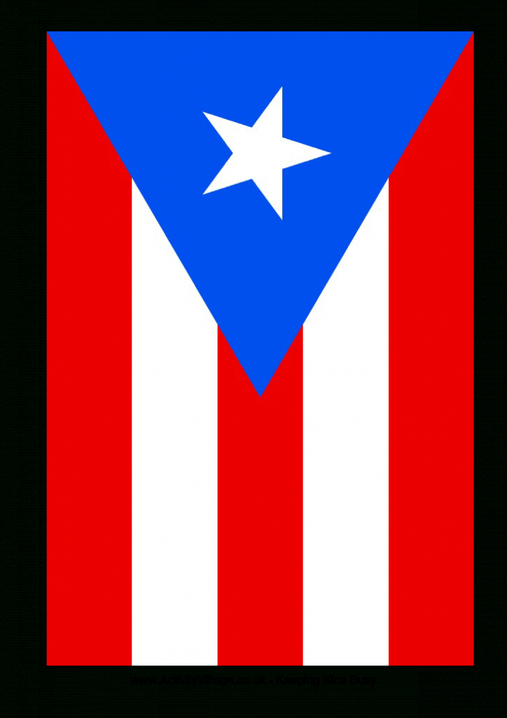 Download This Free Printable Puerto Rico Template A4 Flag, A5 Flag - Printable Map Of Puerto Rico For Kids