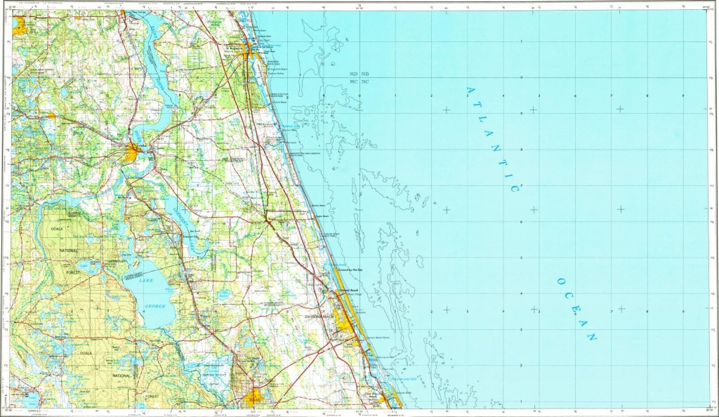 Download Topographic Map In Area Of Daytona Beach, Port Orange - Map Of Daytona Beach Florida Area