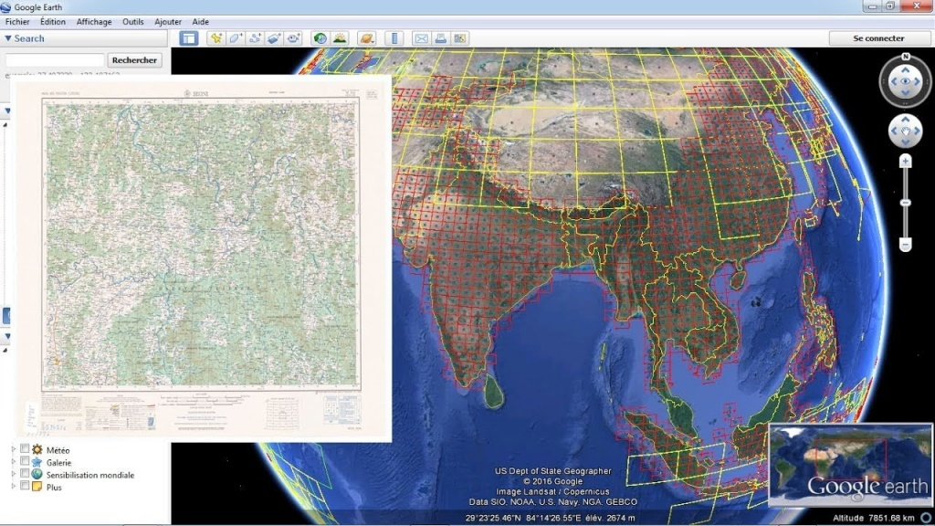 Download Topographic Maps From Google Earth - Youtube - Google Earth Printable Maps