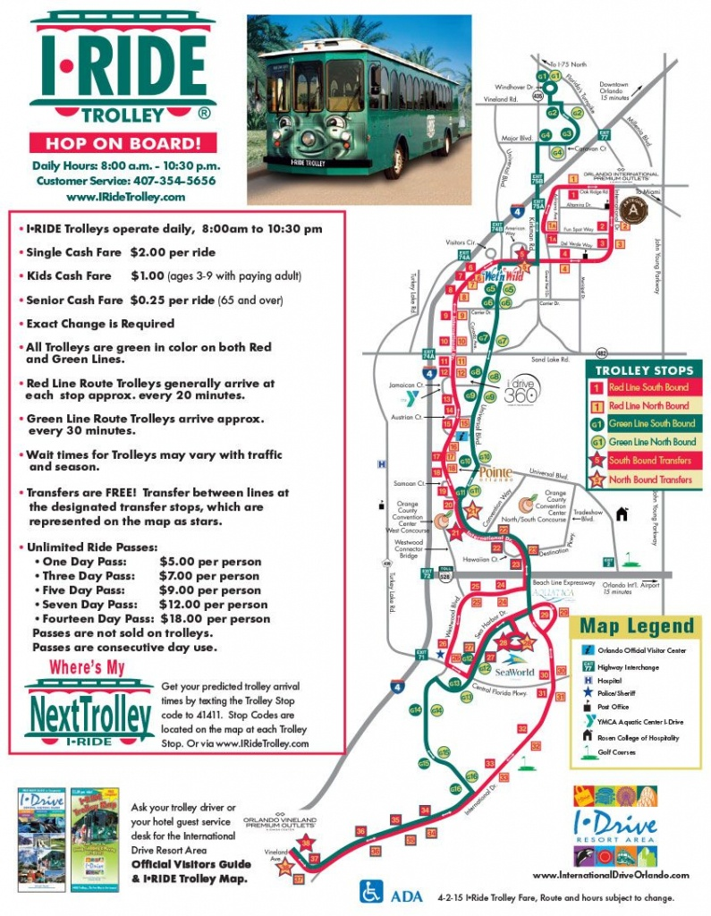 Downloadable Maps For Orlando Including The I-Drive - International - Map Of Orlando Florida International Drive
