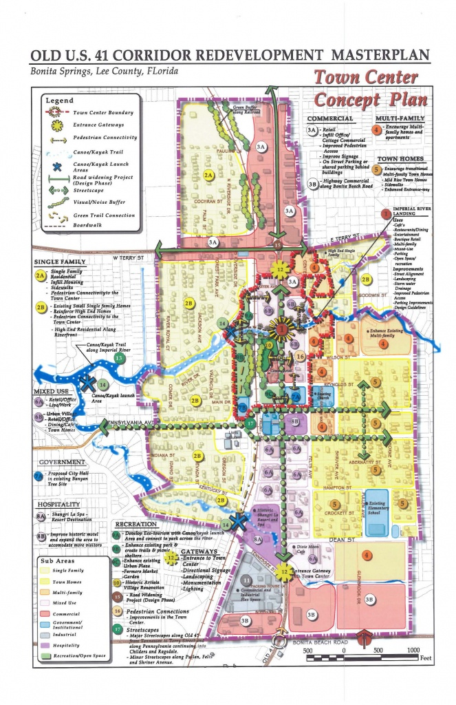 Downtown Bonita Springs Redevelopment Plan - Map Of Bonita Springs And Naples Florida