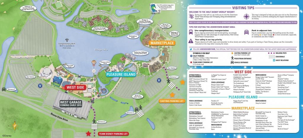 Downtown Disney Parking Information & Tips   Disney Parks Blog - Map Of Disney Springs Florida