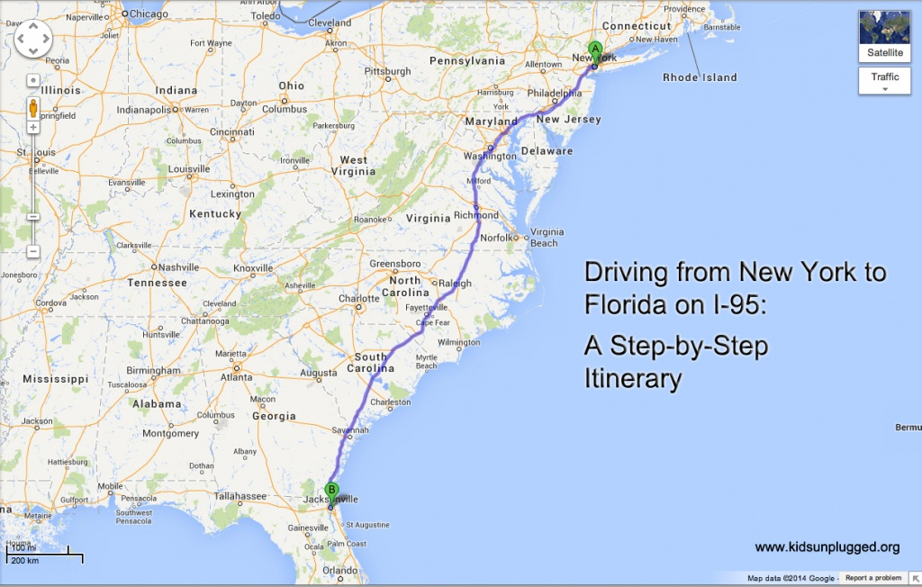 Driving From New York To Florida – A Step-By-Step Itinerary   Kids - Map Of I 95 From Nj To Florida