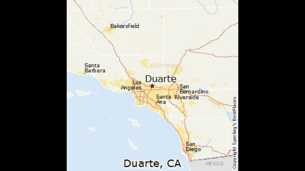 Duarte, California - Youtube - Duarte California Map