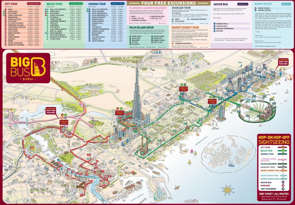 Dubai Tourist Attractions Map - Dubai Tourist Map Printable