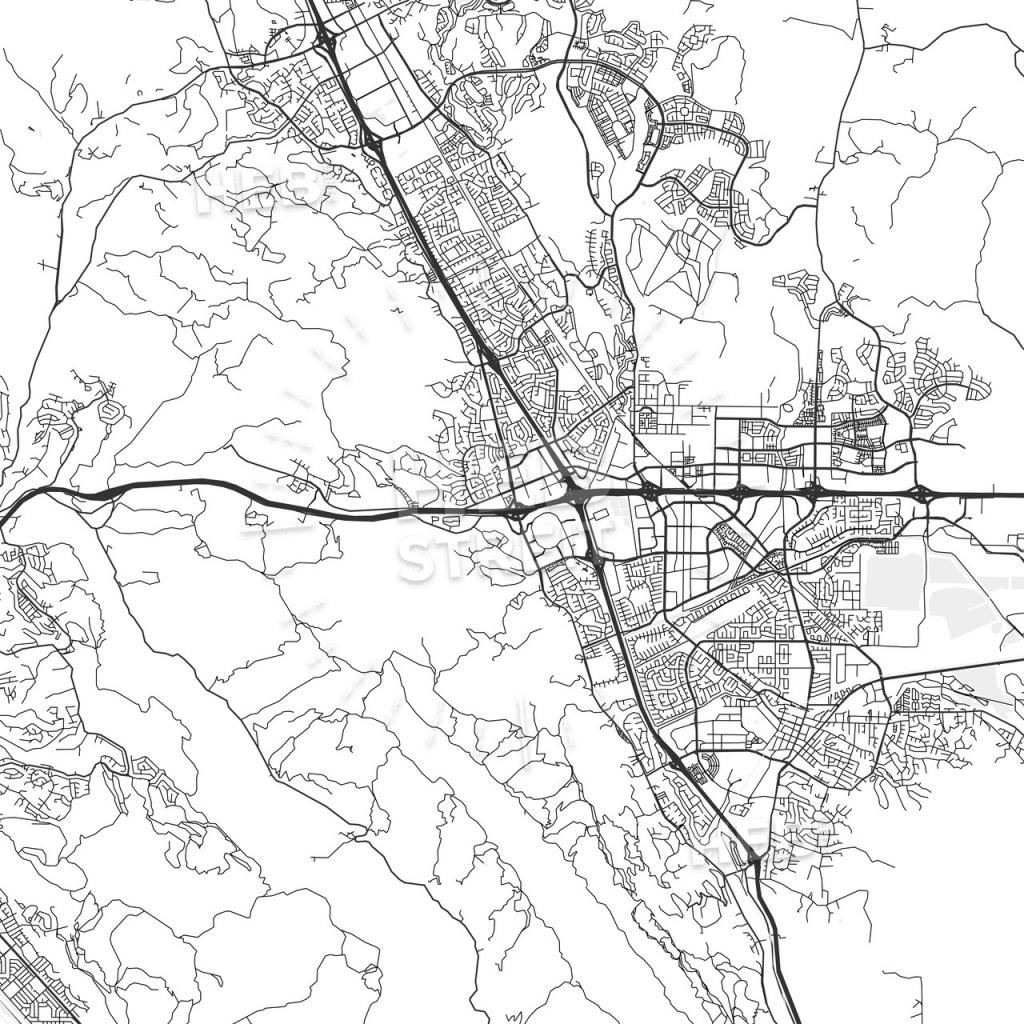 Dublin, California - Area Map - Light | Hebstreits Sketches - Map Of Dublin California Area
