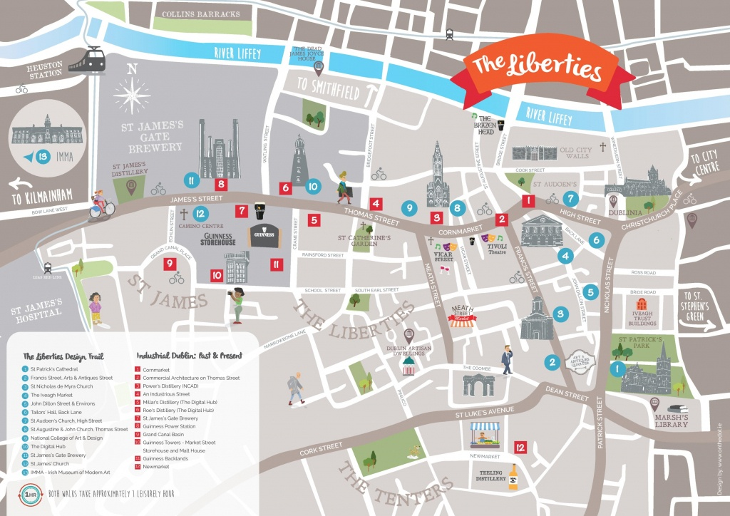 Dublin Libierties Tourist Attractions Map - Dublin Tourist Map Printable