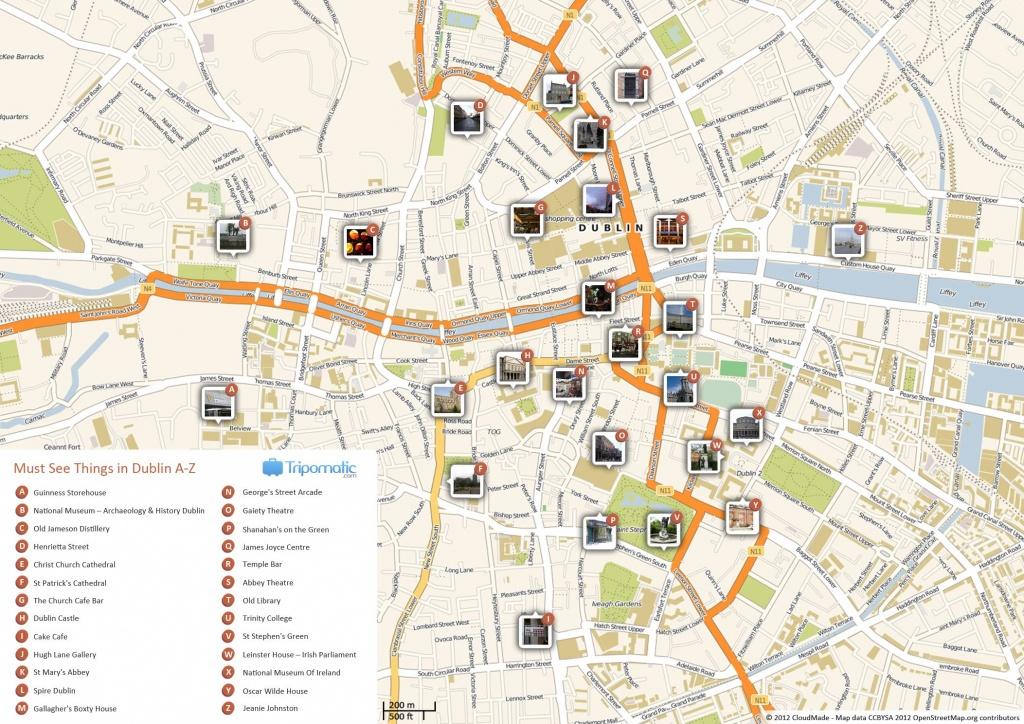 Dublin Printable Tourist Map In 2019 | Free Tourist Maps ✈ | Dublin - Cork City Map Printable