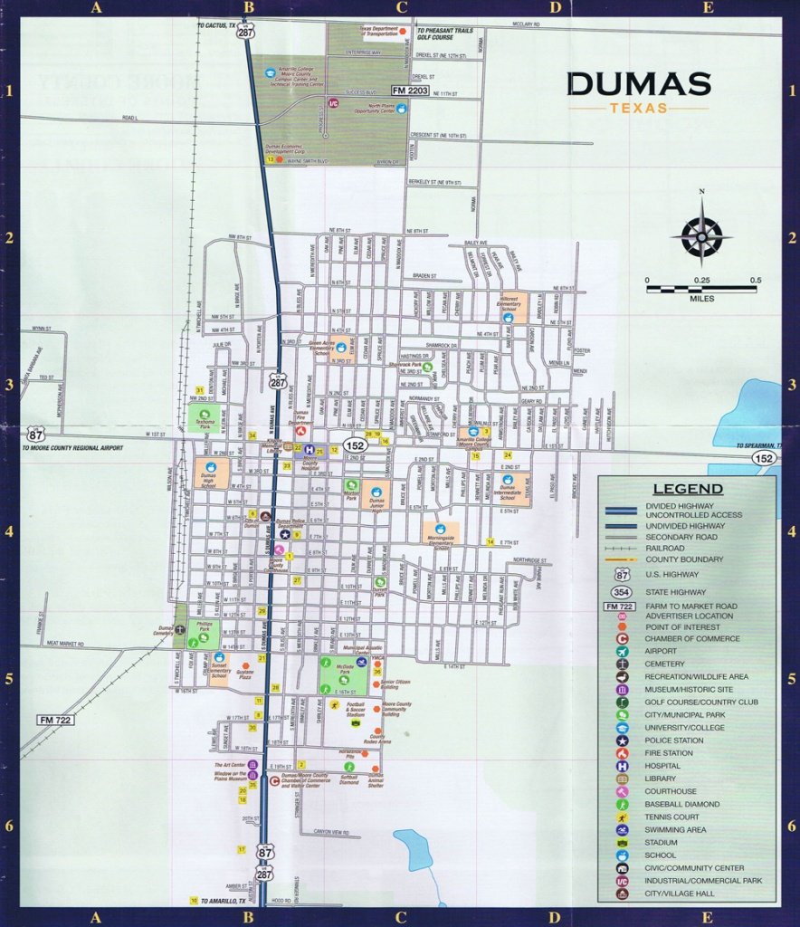 Dumas Local Street Map - Texas Street Map