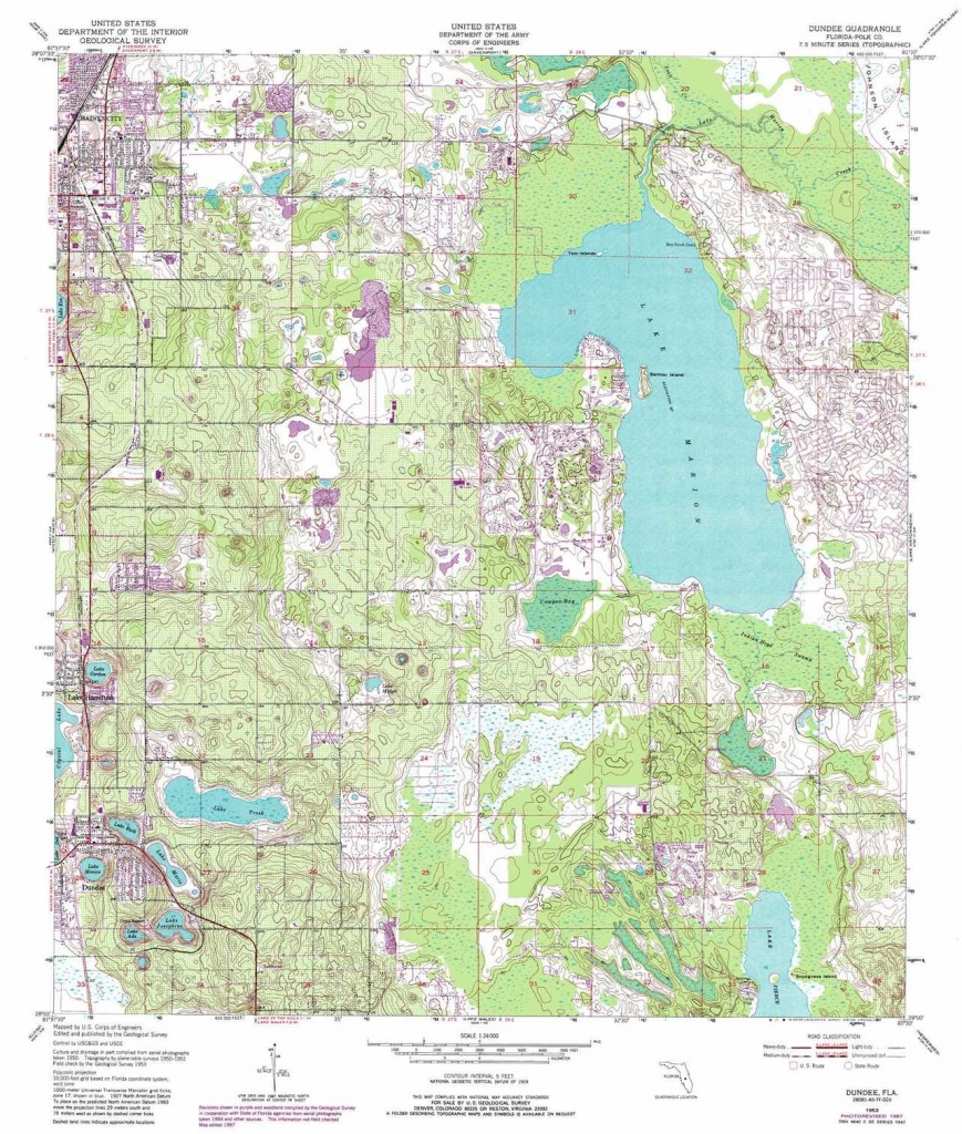 Dundee Topographic Map, Fl - Usgs Topo Quad 28081A5 - Dundee Florida Map