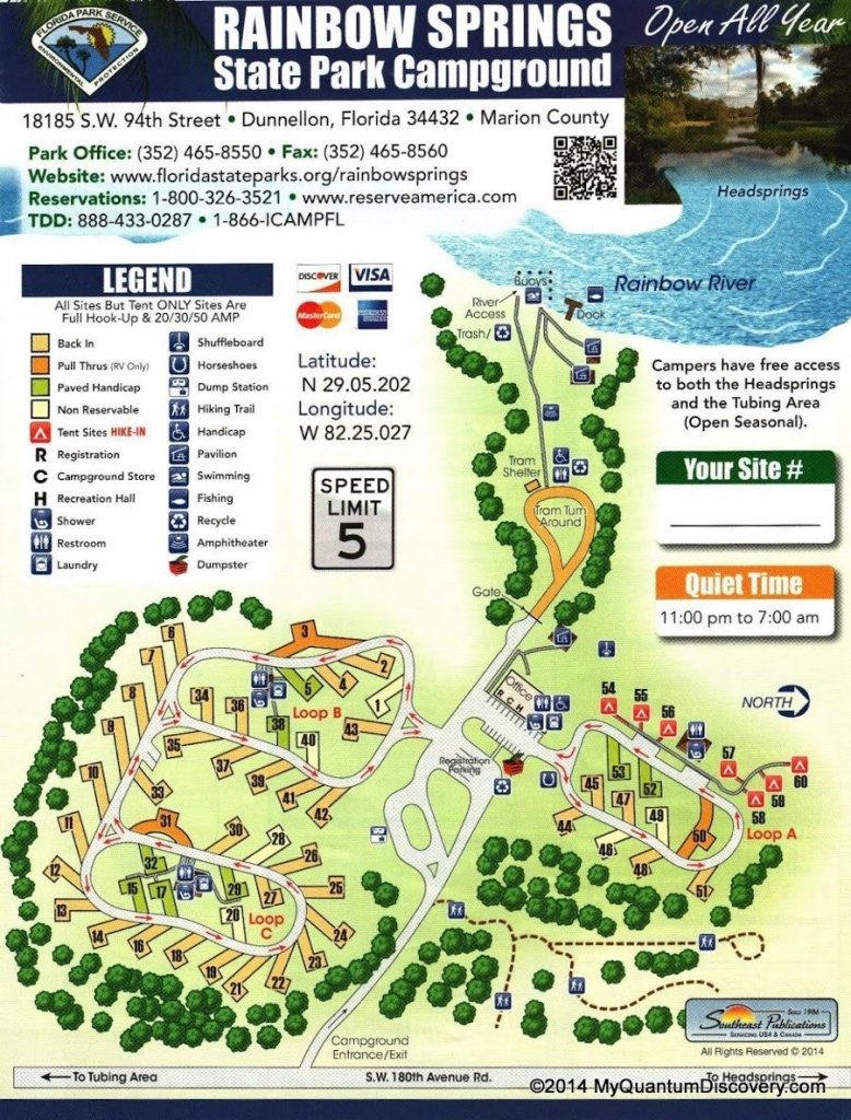 Dunnellon, Fl – Rainbow Springs State Park Review – My Quantum Discovery - Florida State Campgrounds Map