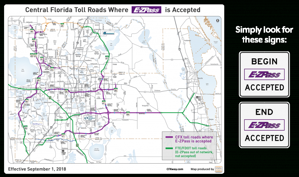 E-Zpass Accepted On Our Roads   Central Florida Expressway Authority - Road Map To Orlando Florida