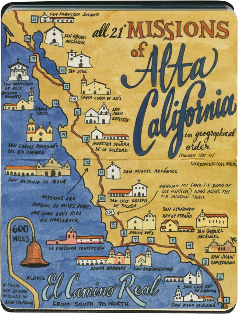 Earlier This Year I Visited All 21 California Missions—And Created - California Missions Map