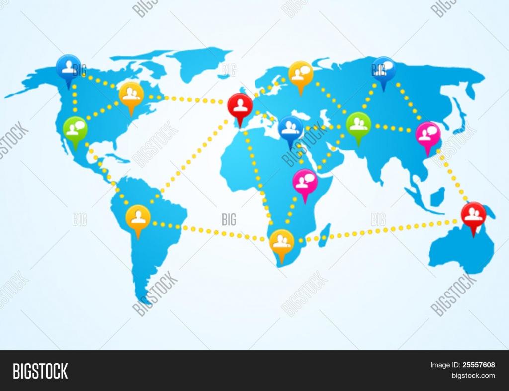 Earth Flat Map Clipart Clipartxtras - Koman.mouldings.co - Flat Map Of World Printable