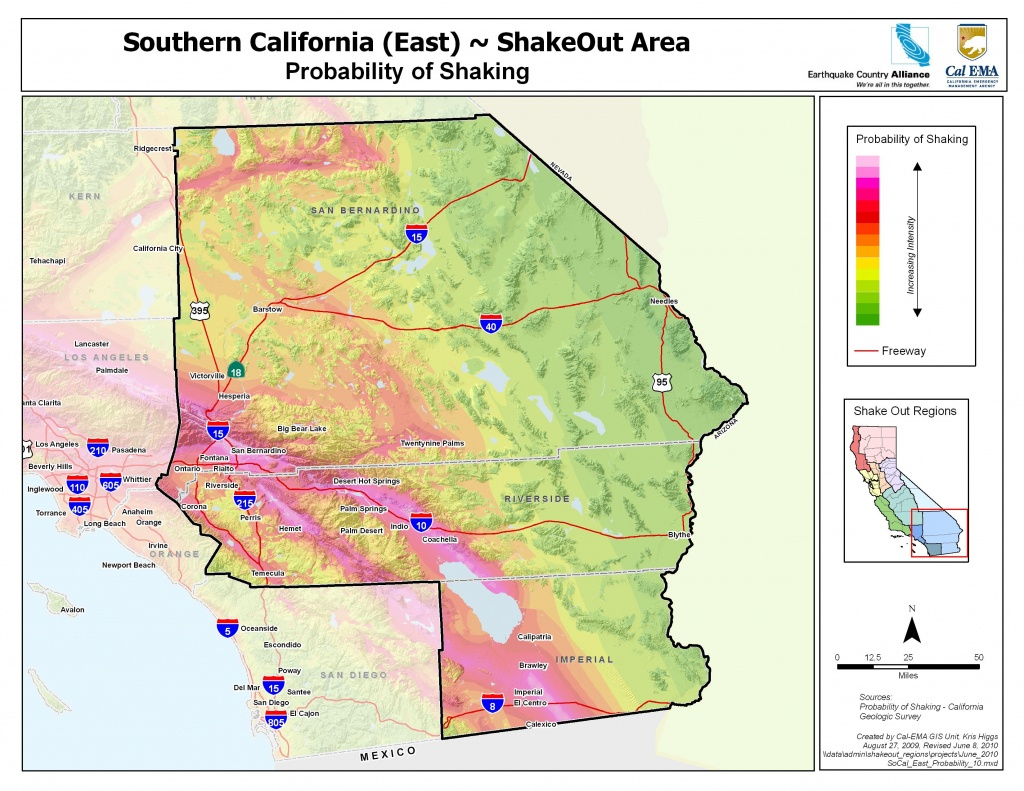 Earthquake Country Alliance: Welcome To Earthquake Country! - Southern California Earthquake Map