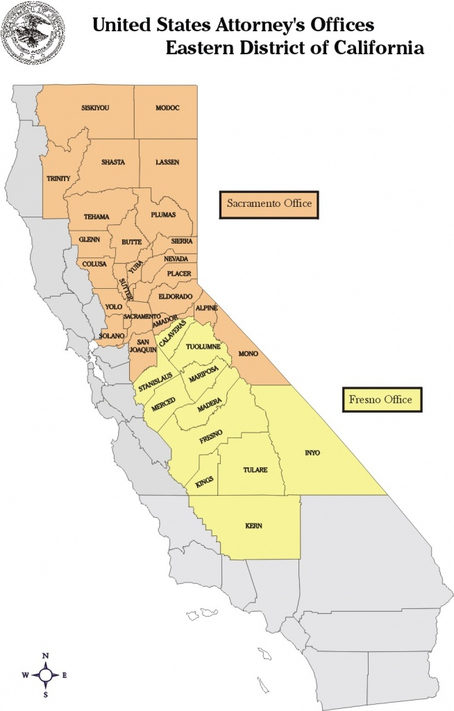 Eastern District Of California | Department Of Justice - California Prisons Map