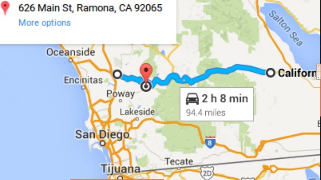 Ed Peruta To Talk In Southern California On 25 April, 2015 - Ramona California Map