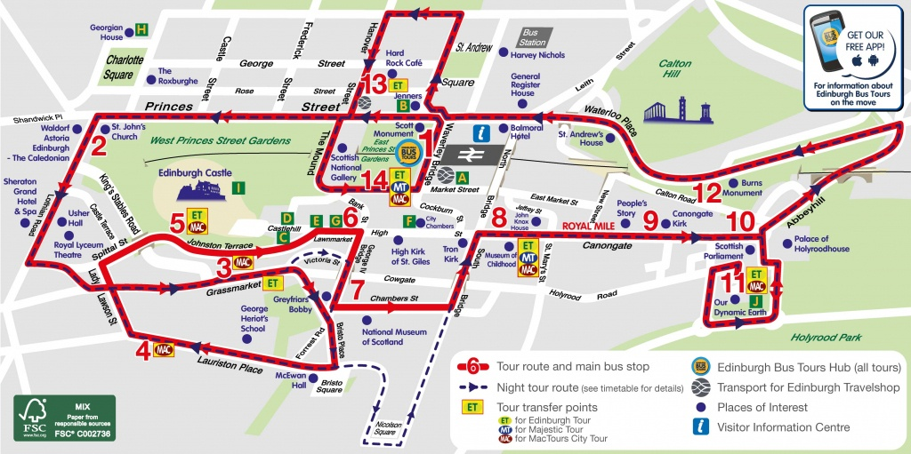 Edinburgh Attractions Map Pdf - Free Printable Tourist Map Edinburgh - Edinburgh City Map Printable