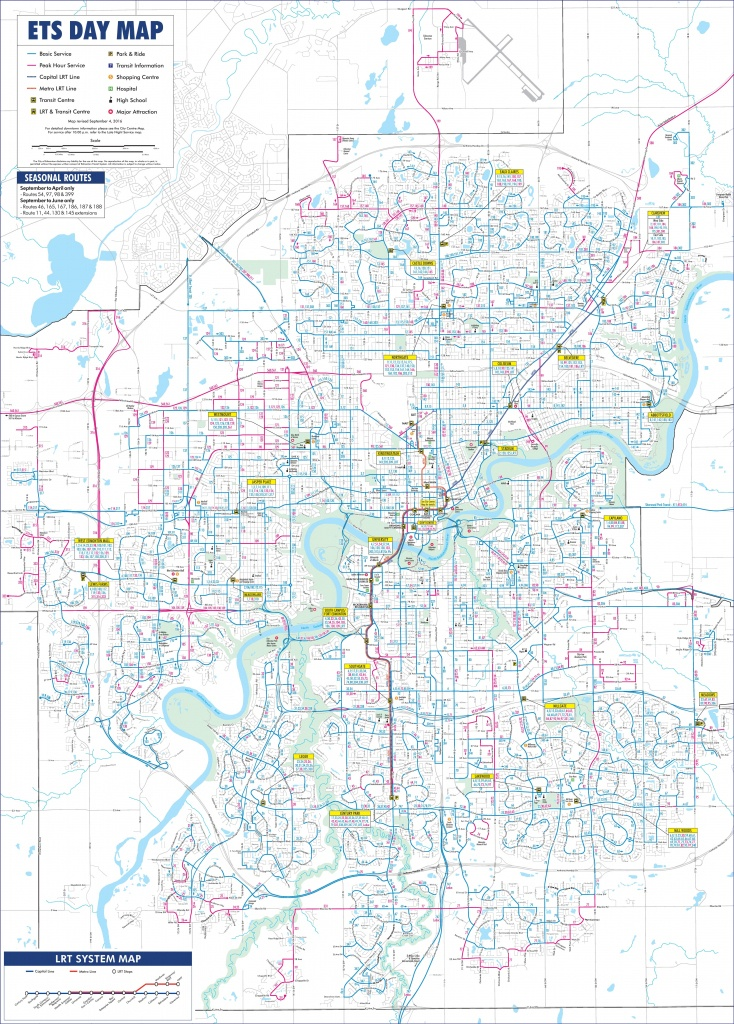 Edmonton Transport Map - Printable Map Of Edmonton