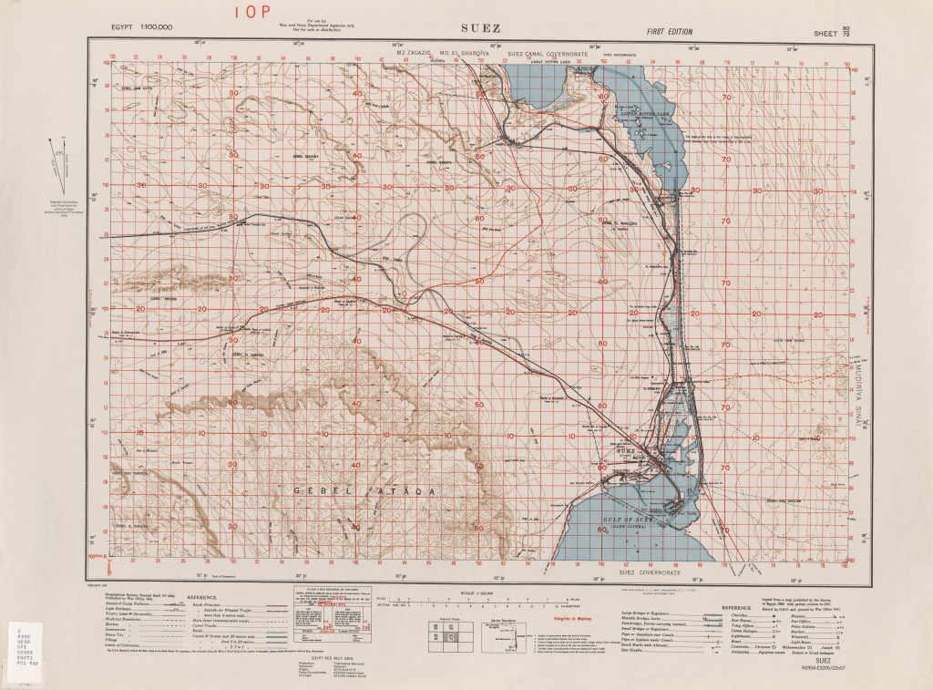 Egypt Topographic Maps - Perry-Castaã±Eda Map Collection - Ut - Texas Rut Map