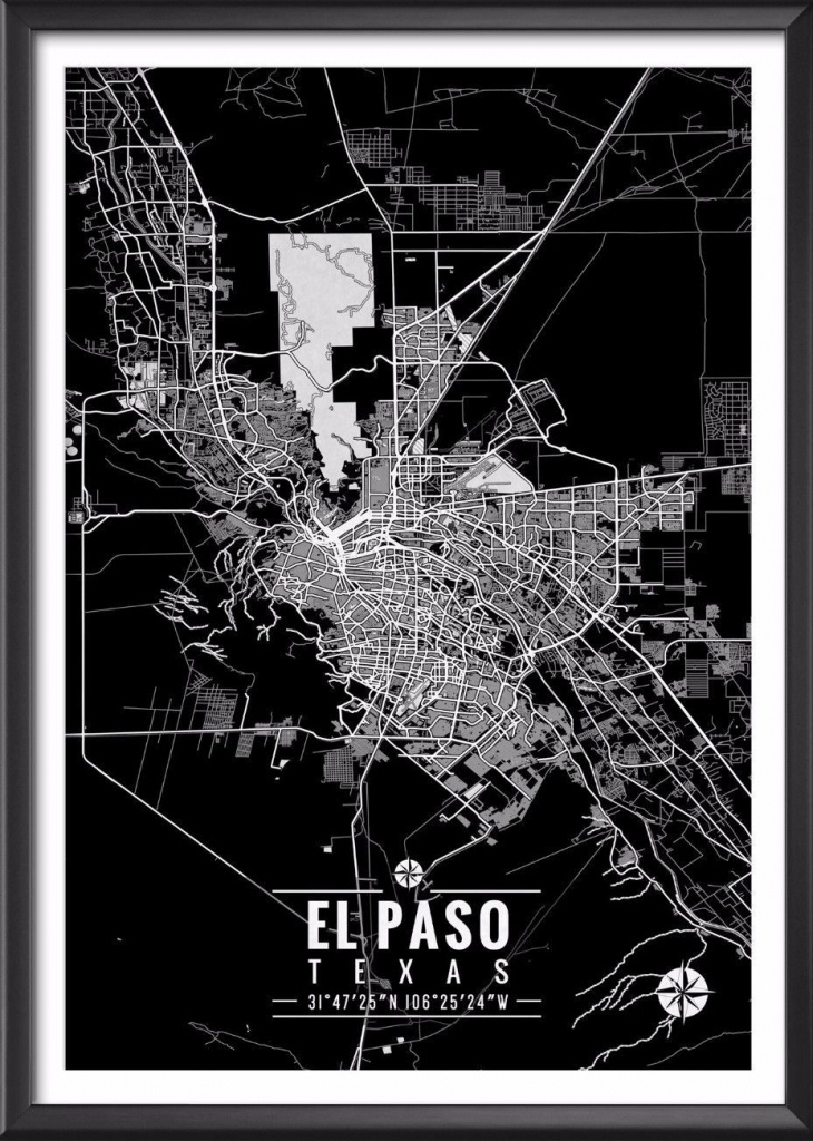 El Paso Texas Map With Coordinates In 2019 | Decor | El Paso Texas - Sun City Texas Map