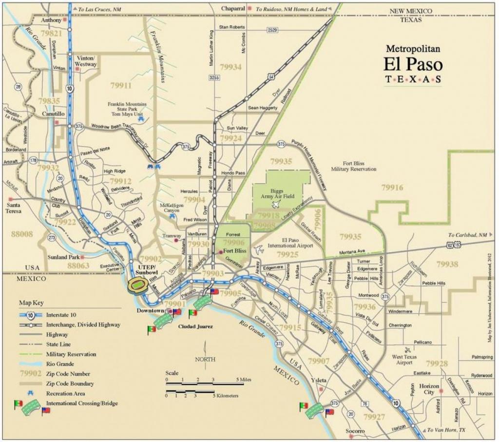 El Paso Tx-Kaart - Kaart El Paso Tx (Texas - Usa) - Where Is El Paso Texas On The Map