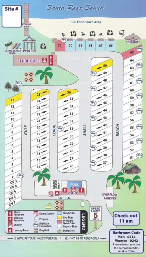 Emerald Beach Rv Park Map | Rv | Rv Parks, Camping Resort, Florida - Map Of Rv Parks In Florida