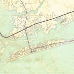 Emerald Isle Nc Canvas Print Nc North Carolina Vintage Map Wall Art   Emerald Isle Florida Map