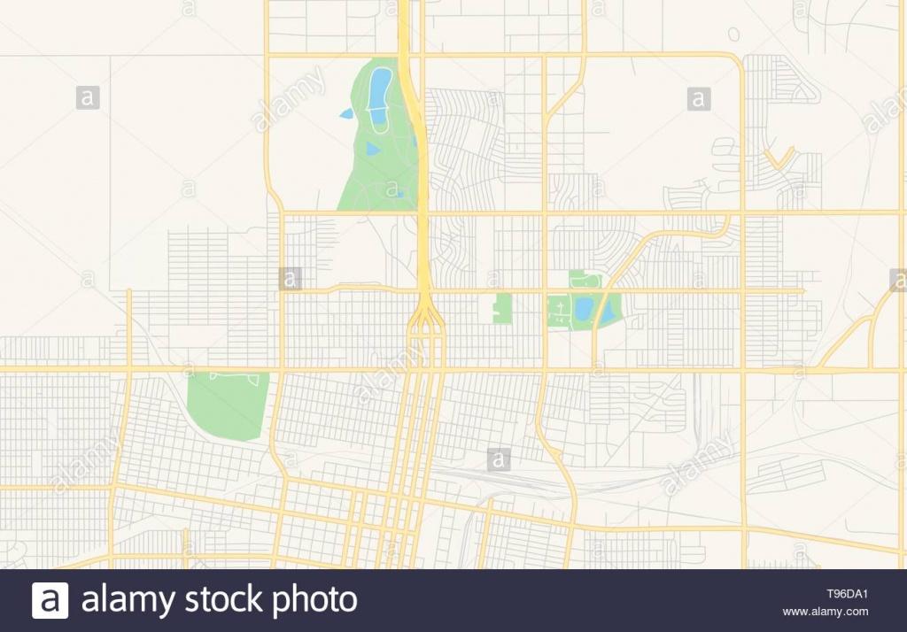 Empty Vector Map Of Amarillo, Texas, Usa, Printable Road Map Created - Printable Map Of Amarillo Tx