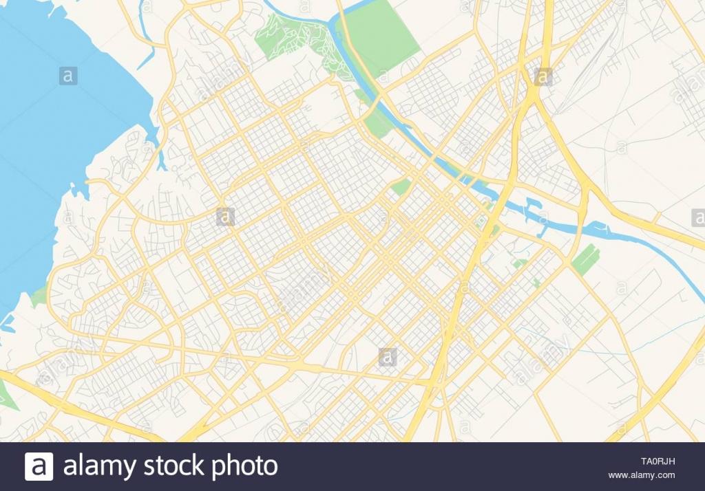 Empty Vector Map Of Waco, Texas, Usa, Printable Road Map Created In - Printable Map Of Waco Texas