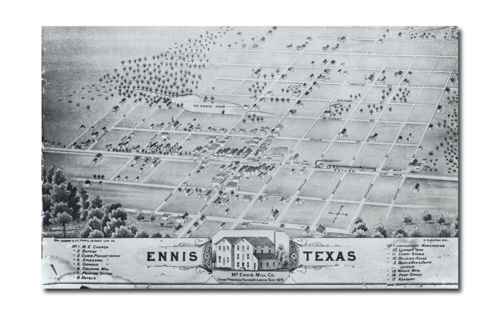 Ennis City Map - Ennis Texas • Mappery | Genealogy | Ennis Texas - Ennis Texas Map