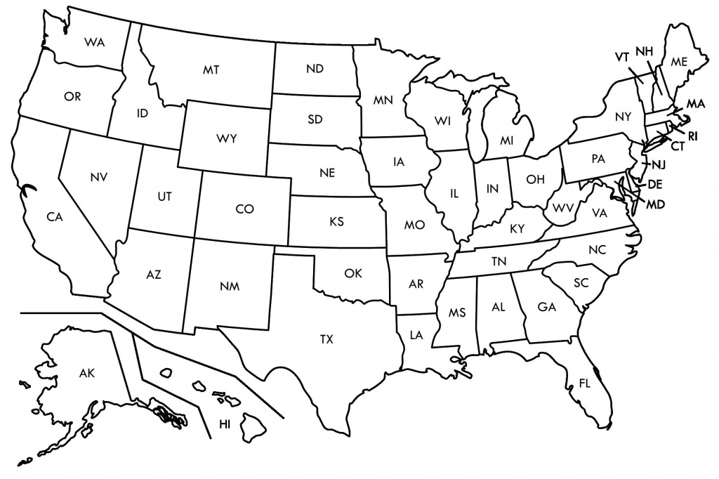 Enthralling Blank Ms Map Us Map Abbreviated States Blank U S Map - Printable State Abbreviations Map