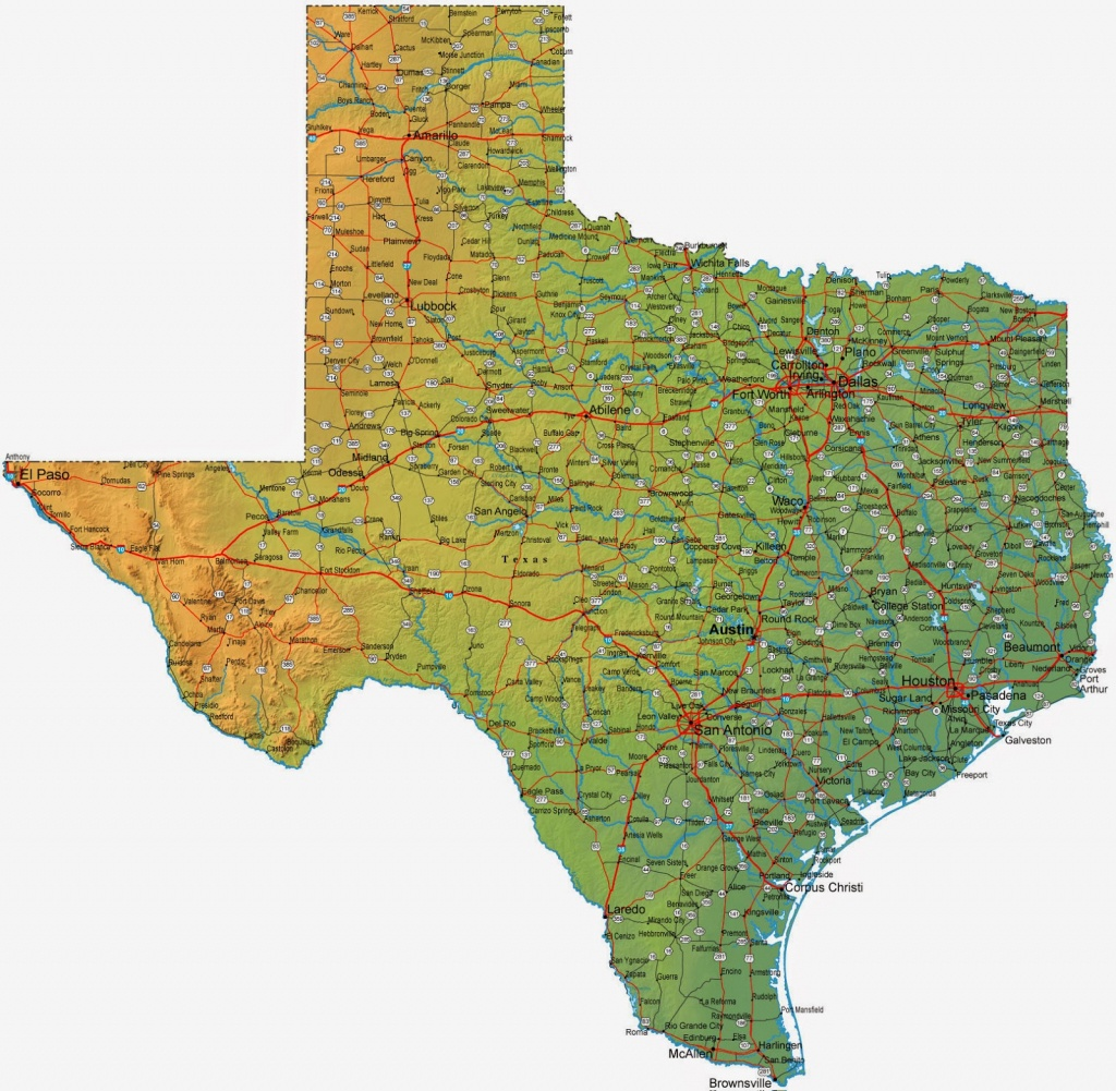 Entire Map Of Texas - Free Printable Maps - Complete Map Of Texas