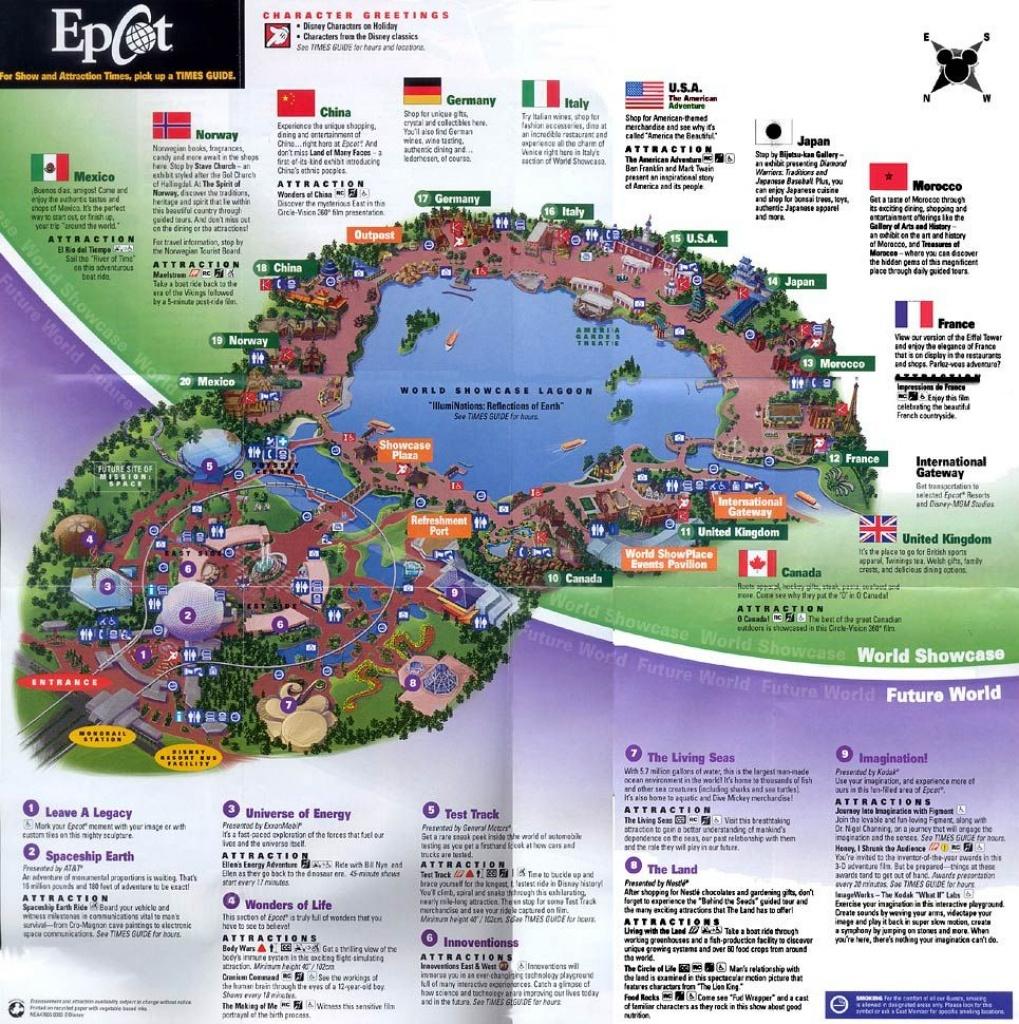 Epcot 2003 | Disney Maps In 2019 | Epcot Map, Disney Map, Epcot - Epcot Florida Map