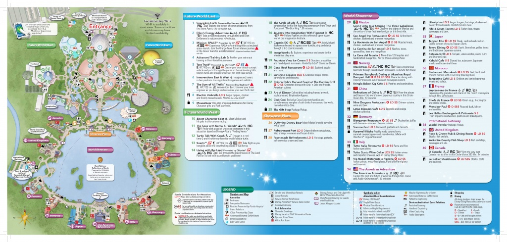 Epcot-Map-2 | Dis Blog - Epcot Park Map Printable