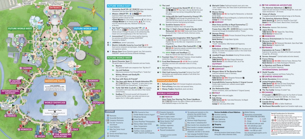 Epcot Map - Walt Disney World - Printable Epcot Map