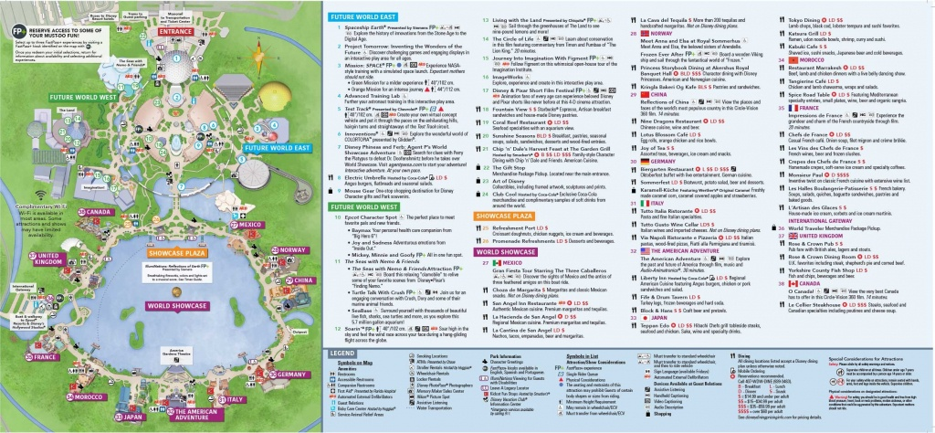 Epcot Map Walt Disney World Within Of Showcase 7 - World Wide Maps - Printable Epcot Map