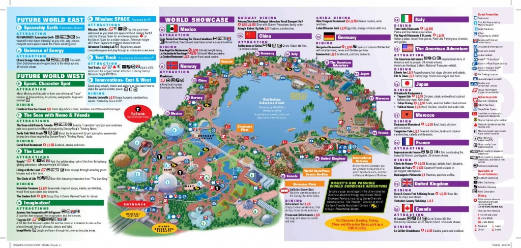 Epcot Map | Wdw -- Epcot | Disney World Map, Epcot Map, Disney Map - Epcot Park Map Printable