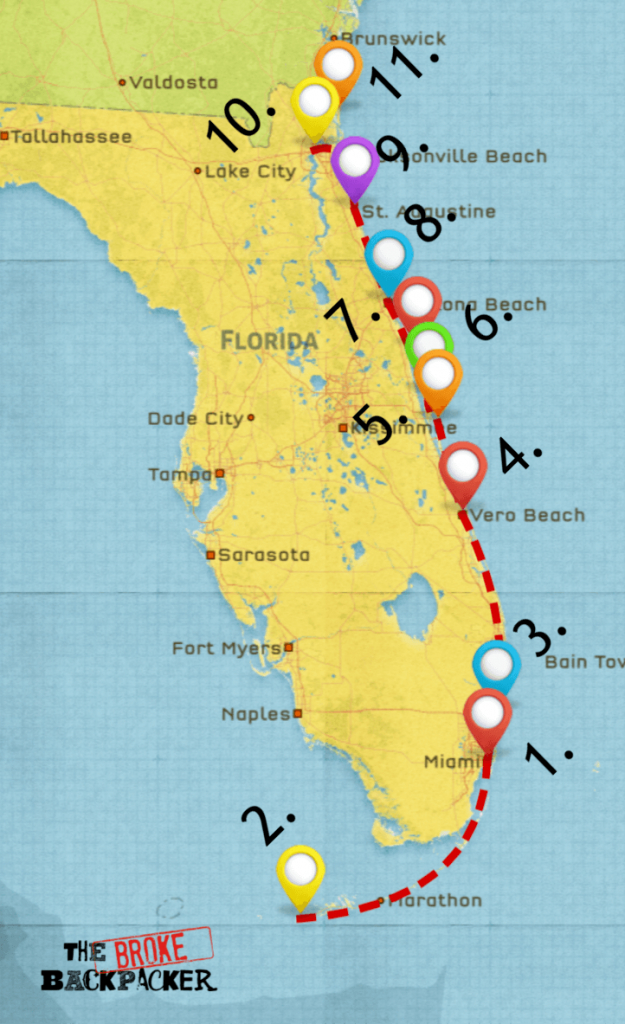 Epic Florida Road Trip Guide For July 2019 - Florida Road Trip Map