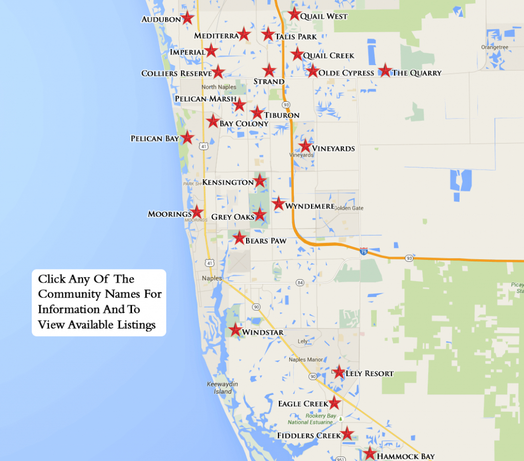 Equity Courses Map - Lely Resort Naples Florida Map