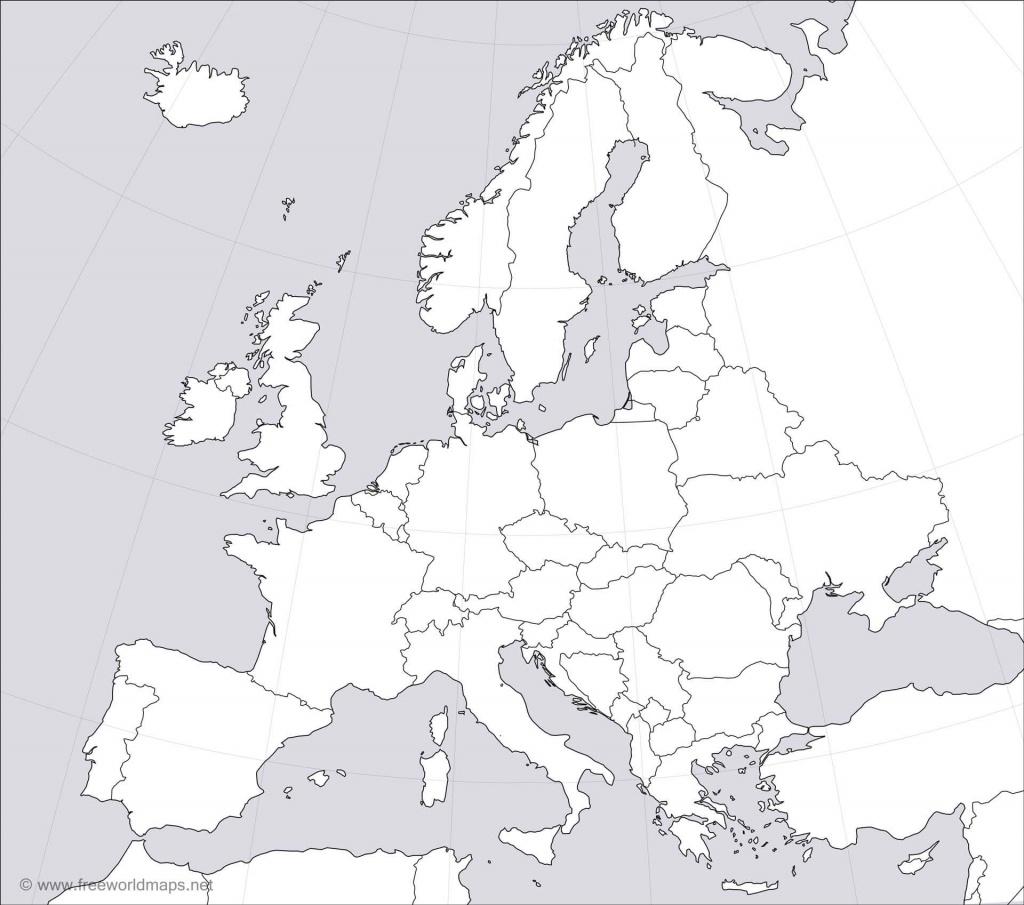 Europe Blank Map - Printable Blank Map Of Europe
