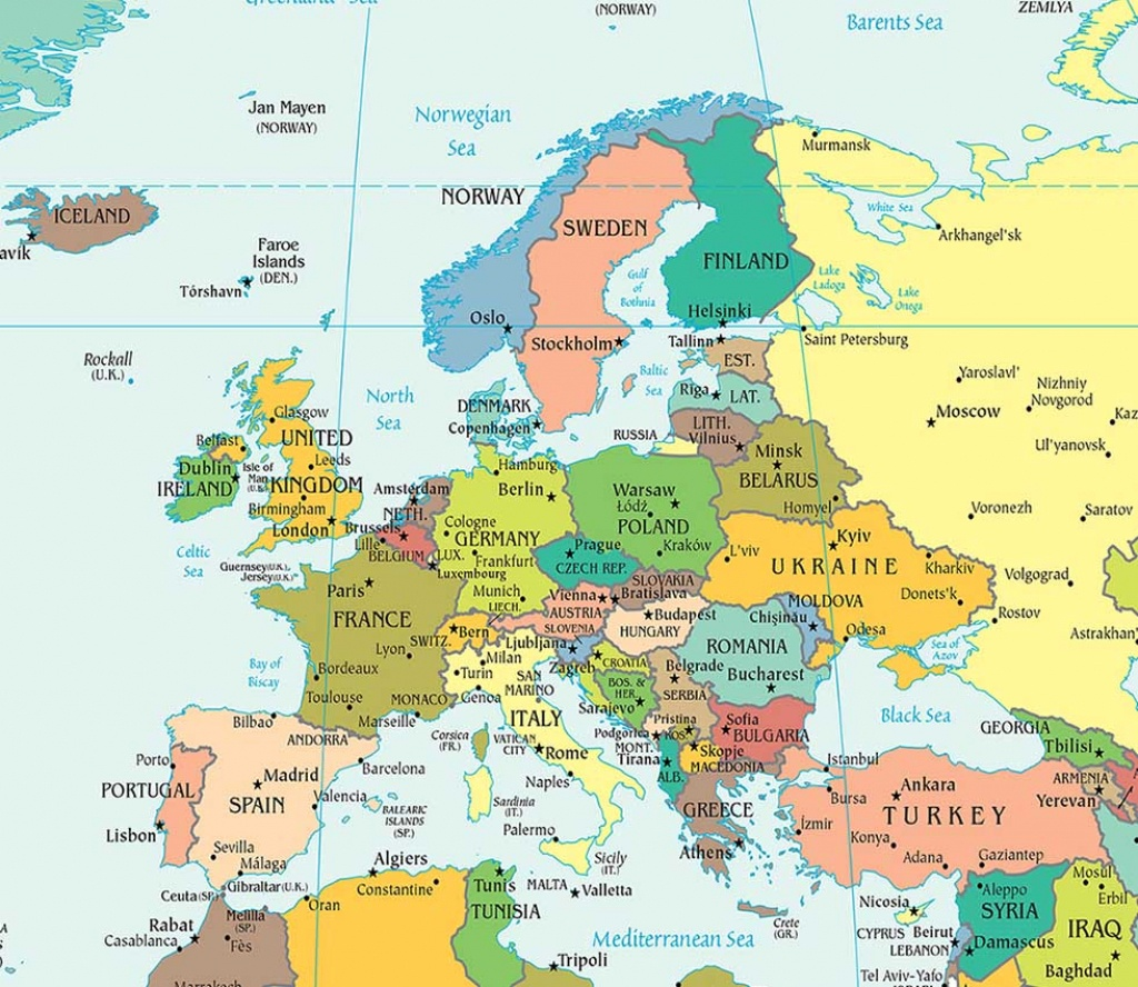 Europe Political Map, Political Map Of Europe - Worldatlas - Europe Travel Map Printable