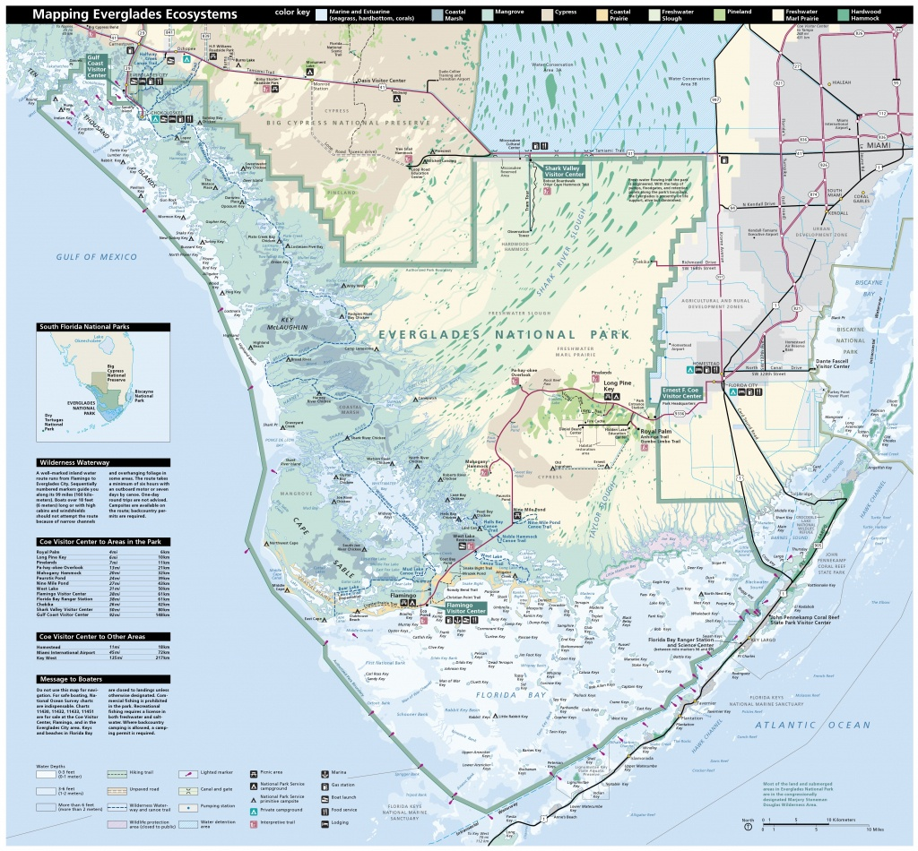 Everglades Maps   Npmaps - Just Free Maps, Period. - National Parks In Florida Map
